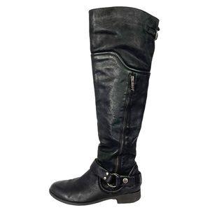 VINTAGE LEIGHTON Miss Sixty Black Leather Boot